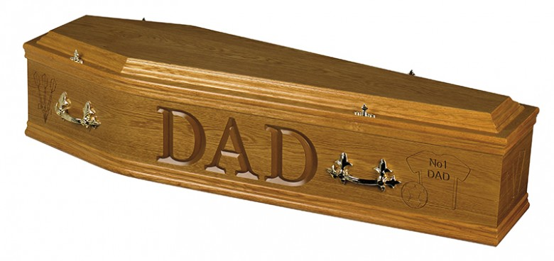 Medium oak coffin