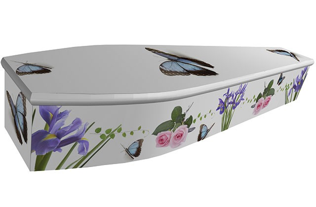 Rose and Butterflies Coffin