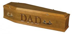 Medium oak coffin