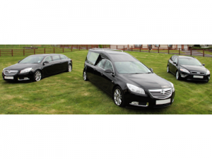 Hearse and Two Limousines