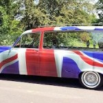 Union Flag Hearse