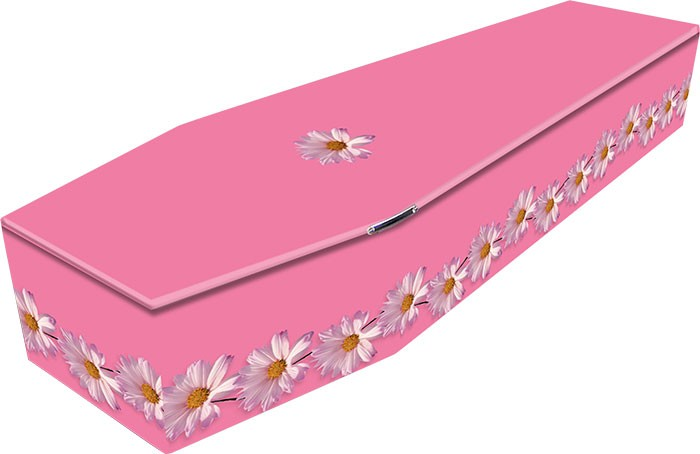 Pink Daisy Coffin