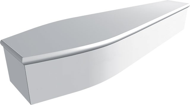 Plain White Coffin